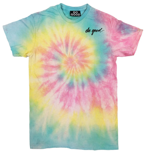 Tie Dye Script Tee - Do Good