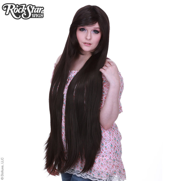 "Cosplay Wigs USA™ <br> Straight 100cm/40"" - Dark Brown - 00349"