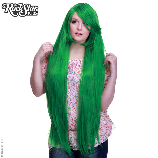 "Cosplay Wigs USA™ <br> Straight 100cm/40"" - Emerald Green -00350"