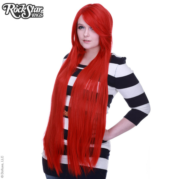 "Cosplay Wigs USA™ <br> Straight 100cm/40"" - True Red -00361"