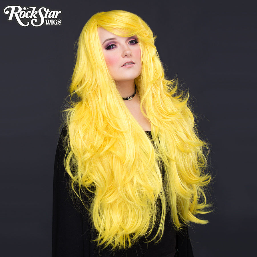 "RockStar Wigs® <br> Hologram 32"" - Yellow Mix -00619"