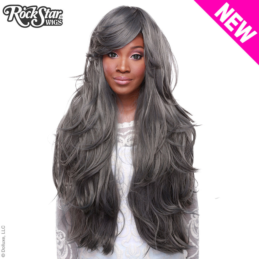"RockStar Wigs® <br> Hologram 32"" - Dark Grey Pewter -00624"