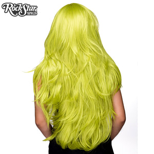 "RockStar Wigs® <br> Hologram 32"" - Lime Green -00626"