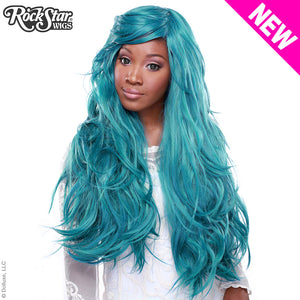"RockStar Wigs® <br> Hologram 32"" - Turquoise Mix -00631"