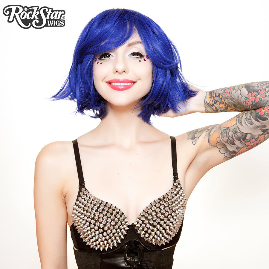 "RockStar Wigs® <br> Hologram 12"" - Royal Blue Mix -00666"
