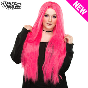 "Lace Front Yaki Straight 32"" - Atomic Hot Pink -00697"