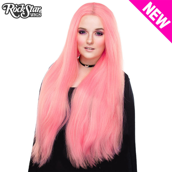 Lace Front Yaki Straight 32 Quot Bubble Gum Pink 00699