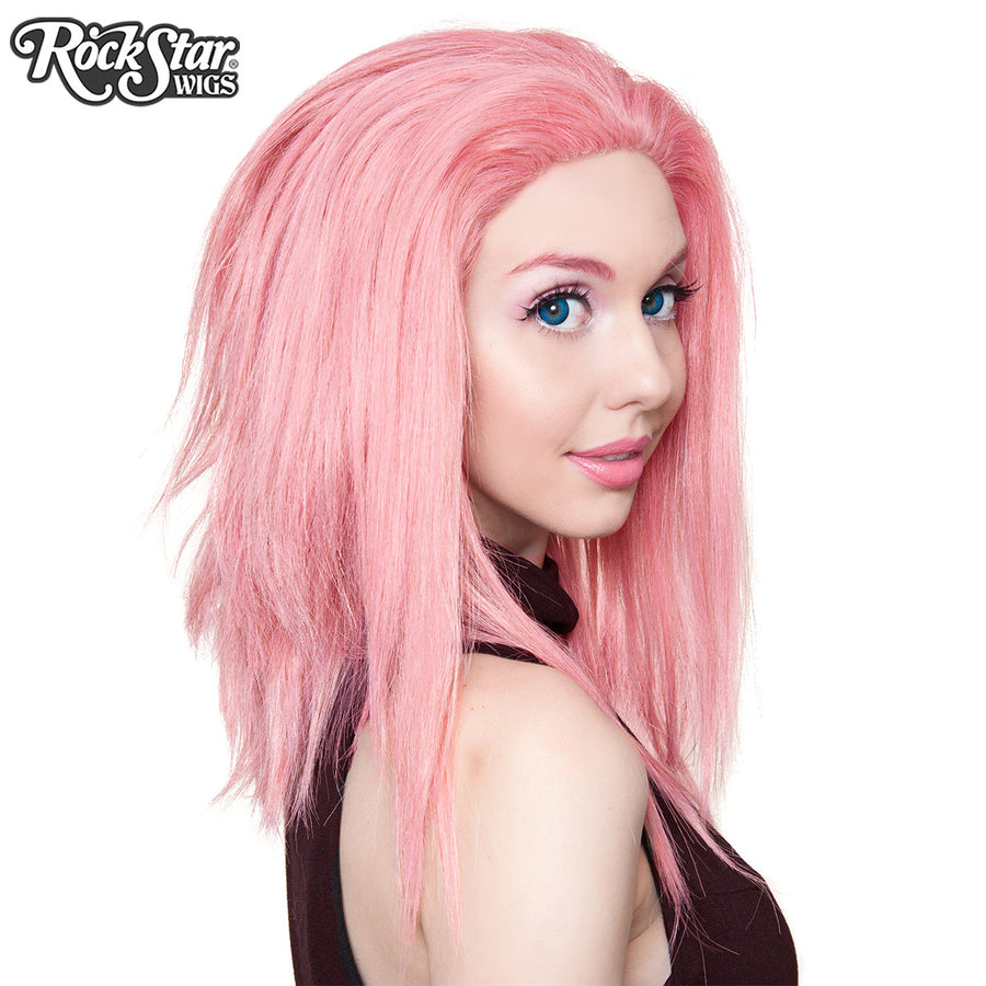 "Lace Front 18"" Layered Yaki - Milkshake Pink Mix -00788"