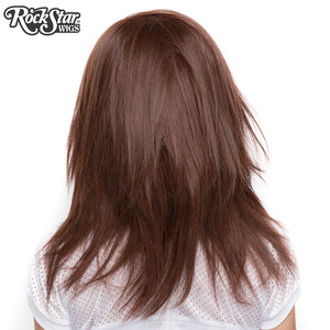"Lace Front 18"" Layered Yaki - Chocolate Brown -00793"