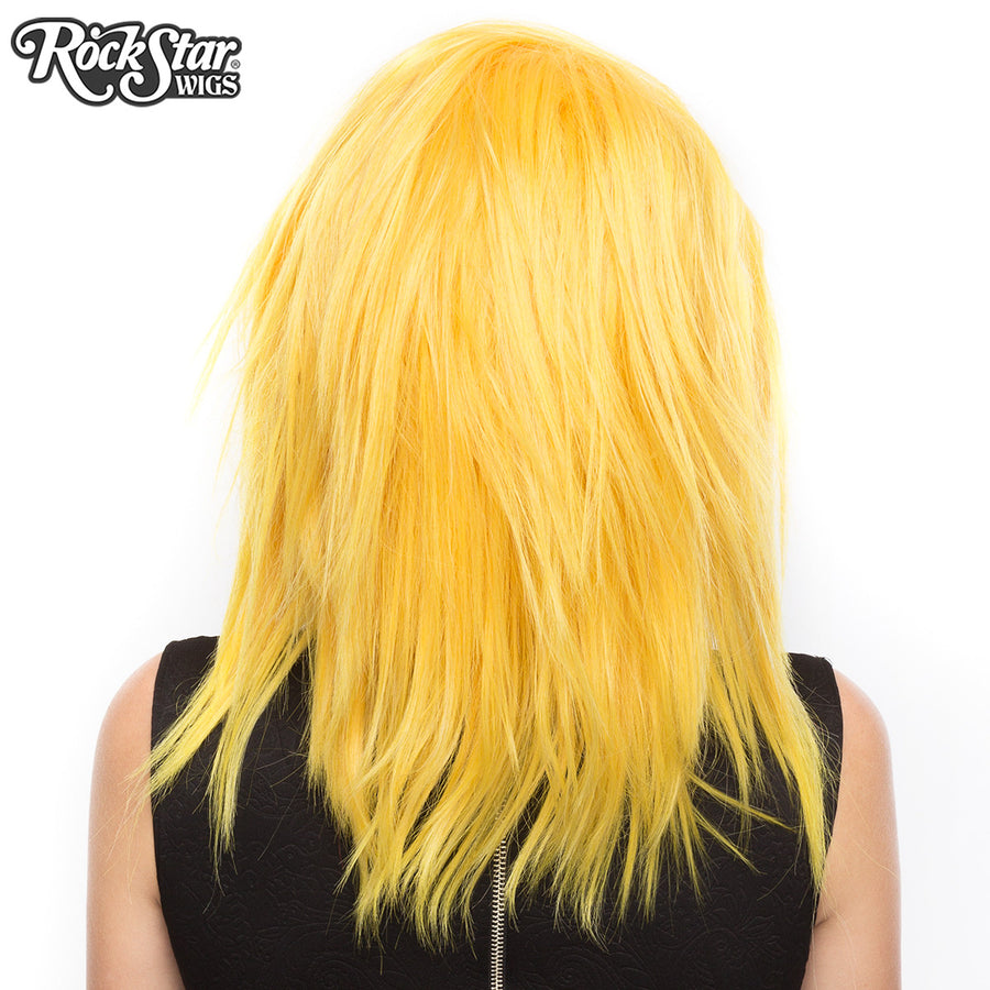 "Lace Front 18"" Layered Yaki - Golden Yellow -00784"