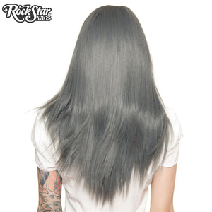"Lace Front 24"" Long Straight - Dark Grey Pewter -00191"