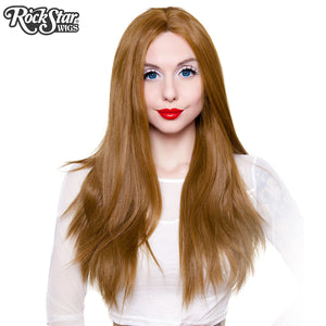 "Lace Front 26"" Yaki Straight - Medium Brown Blend - 00781"