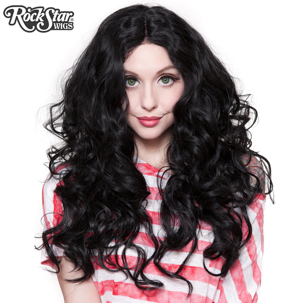 "Lace Front 30"" Long Wavy - Black- 00773"