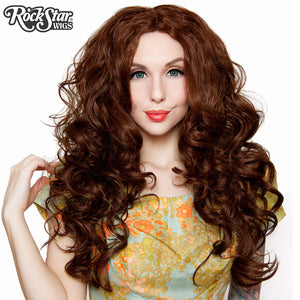 "Lace Front 30"" Long Wavy - Chocolate Brown- 00774"