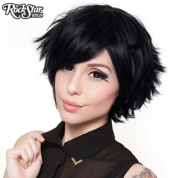 Cosplay Wigs USA™ <br> Boy Cut Short - Black -00258
