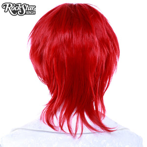 Cosplay Wigs USA™ <br> Boy Cut Long - Crimson Red -00277