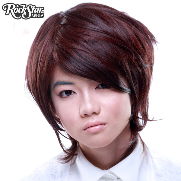 Cosplay Wigs USA™ <br> Boy Cut Long - Dark Brown -00278