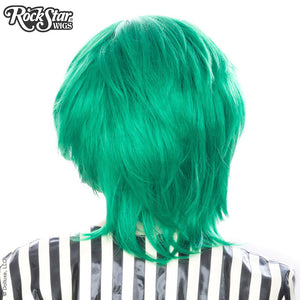 Cosplay Wigs USA™ <br> Boy Cut Long - Linden Emerald Jade Green -00452