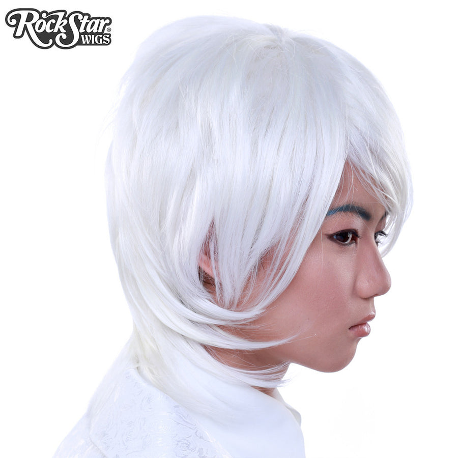 Cosplay Wigs USA™ <br> Boy Cut Long - White -00282