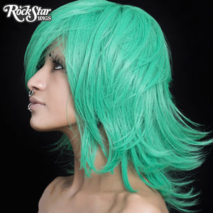 Cosplay Wigs USA™ <br> Boy Cut Shag - Seafoam Green -00298