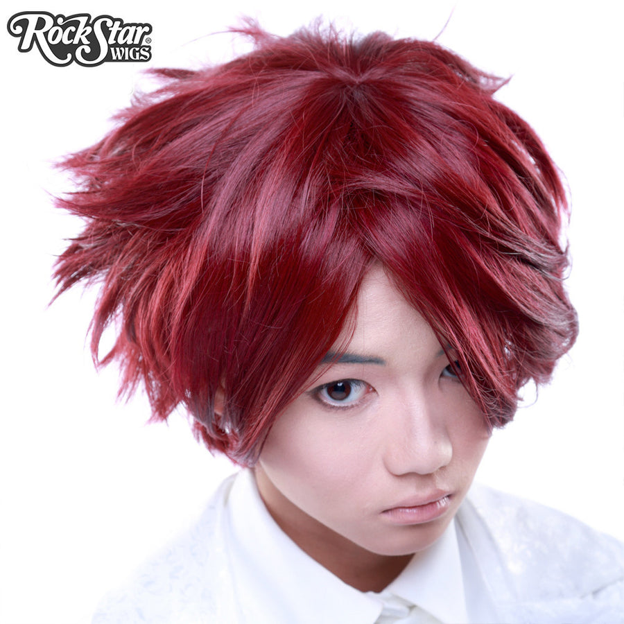 Cosplay Wigs USA™ <br> Boy Cut Short - Burgundy -00260