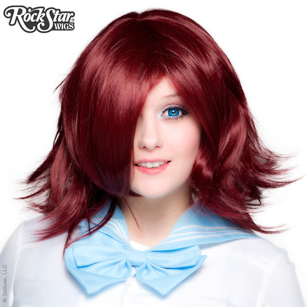 Cosplay Wigs USA™ <br> Boy Cut Shag - Burgundy -00286
