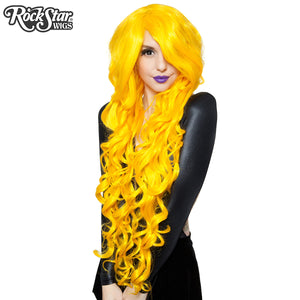"Cosplay Wigs USA™ <br> Curly 90cm/36"" - Yellow -00378"