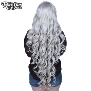 "Cosplay Wigs USA™ <br> Curly 90cm/36"" - Silver -00333"