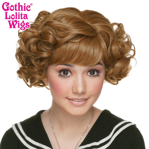 Gothic Lolita Wigs® <br> Curly Bob™ - Caramel Brown Mix -00500