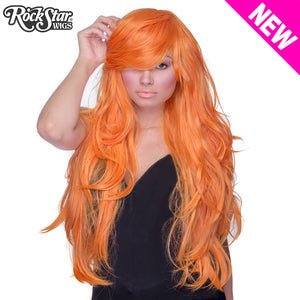 "RockStar Wigs® <br> Hologram 32"" - Pumpkin Mix - 00629"