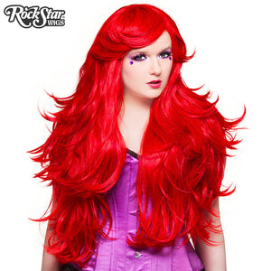 "RockStar Wigs® <br> Hologram 32"" - Jem Red-00614"