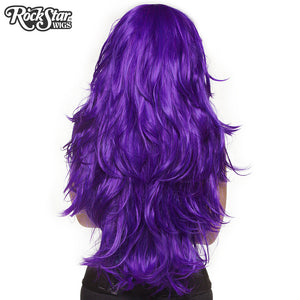 "RockStar Wigs® <br> Hologram 32"" - Purple Grape-00616"