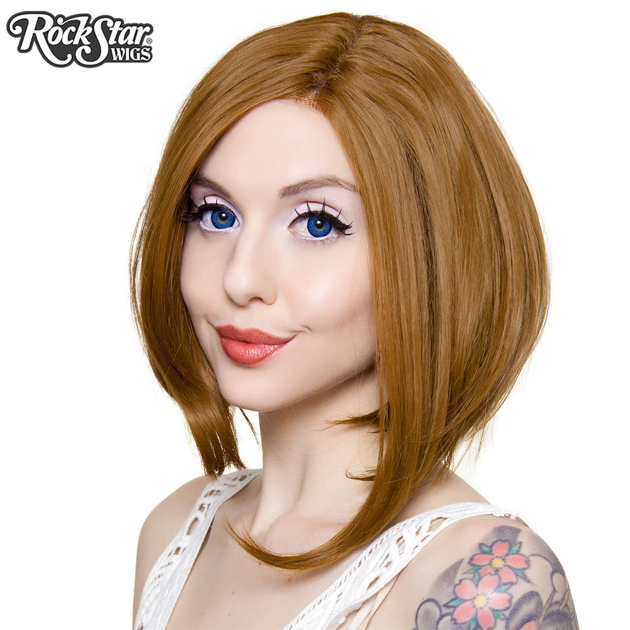 Lace Front Long Sleek Bob - Medium Brown Blend - 00764