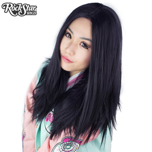 "Lace Front 24"" Long Straight - Black - 00187"