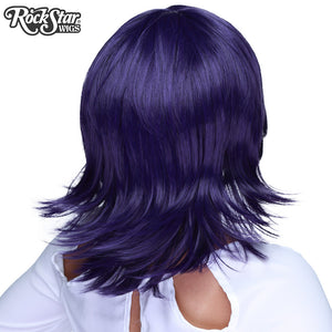 Cosplay Wigs USA™ <br> Boy Cut Shag - Purple Black -00296