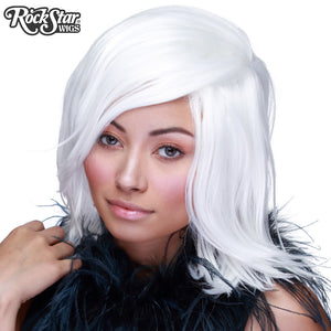 Cosplay Wigs USA™ <br> Boy Cut Shag - White -00303