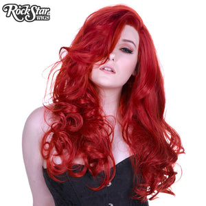 Lace Front Peek-A-Boo - Henna Red -00535