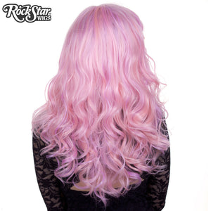 Lace Front Peek-A-Boo - Pink & Lilac Blend -00585