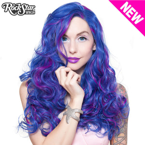 Lace Front Peek-A-Boo - Royal Blue with Magenta highlight 00696