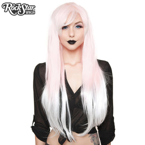 RockStar Wigs® <br> Ombre Alexa™ Collection - Pink to White Fade-00202