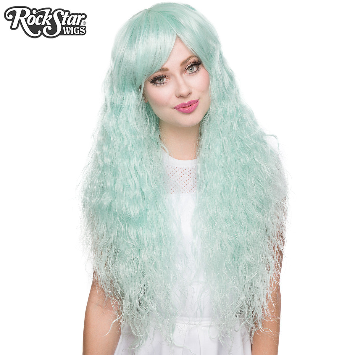 Base Mint Green Cosplay Lolita Wig NEW 18/'/' Ringlet Curly Pig Tails