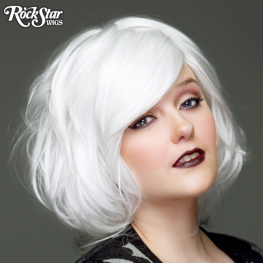 Cosplay Wigs USA™ <br> Boy Cut Short Shag - White - 00714