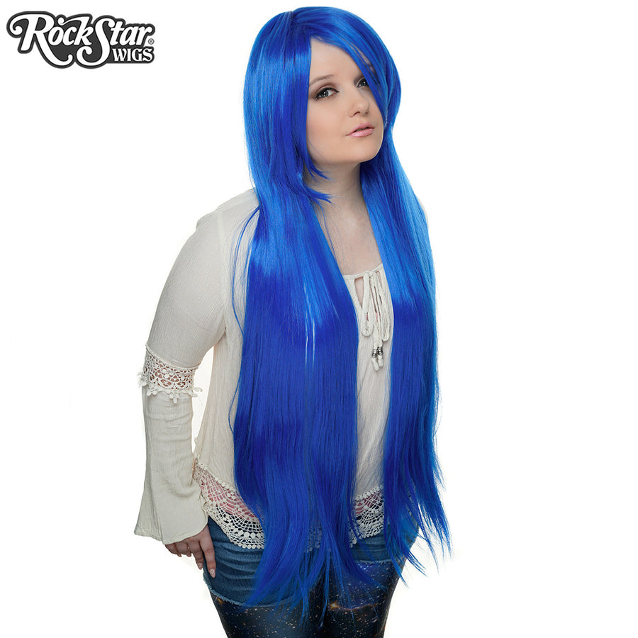 "Cosplay Wigs USA™ <br> Straight 100cm/40"" - Royal Blue -00358"