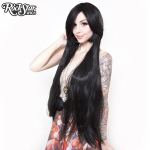 "Cosplay Wigs USA™ <br> Straight 100cm/40"" - Black -00346"