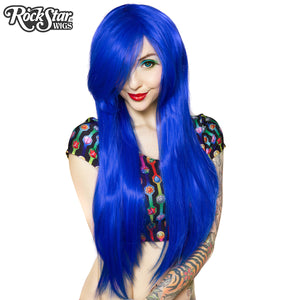 "Cosplay Wigs USA™ <br> Straight 70cm/28"" - Royal Blue -00236"