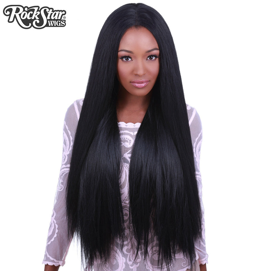"Lace Front Yaki Straight 32"" - Black- 00591"