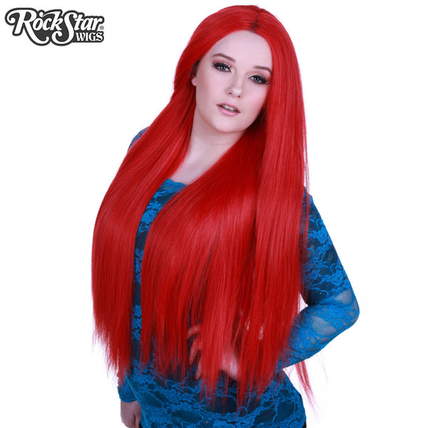 "Lace Front Yaki Straight 32"" - Red- 00588"