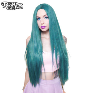 "Lace Front Yaki Straight 32"" - Turquoise Mix 00701"