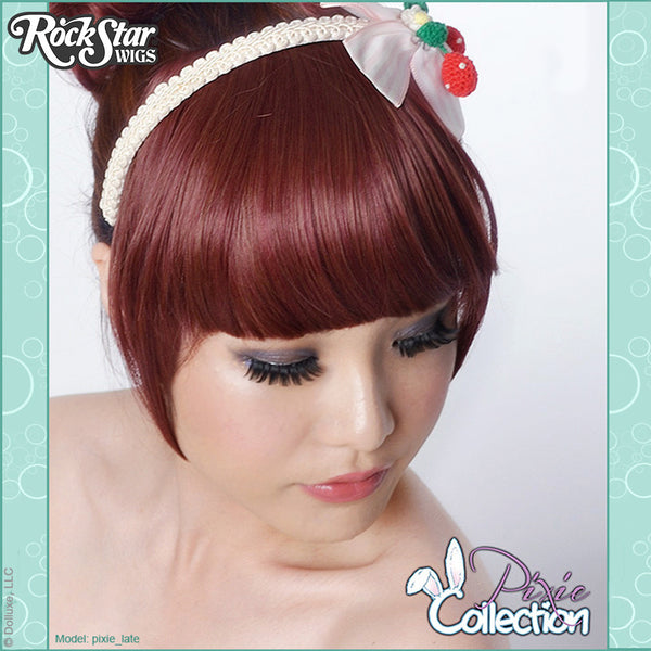 Gothic Lolita Wigs® <br> Pixie™ Collection - Bangs 1 (Burgundy & Brown Mix) -00068