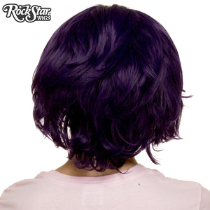Cosplay Wigs USA™ <br> Boy Cut Short Shag - Purple Black - 00522